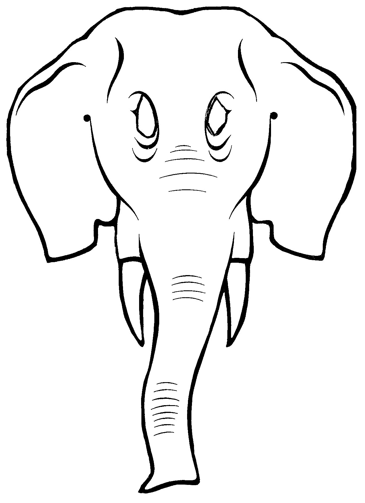 Baby Elephant Template Cartoon Drawing At Getdrawings Com Free For