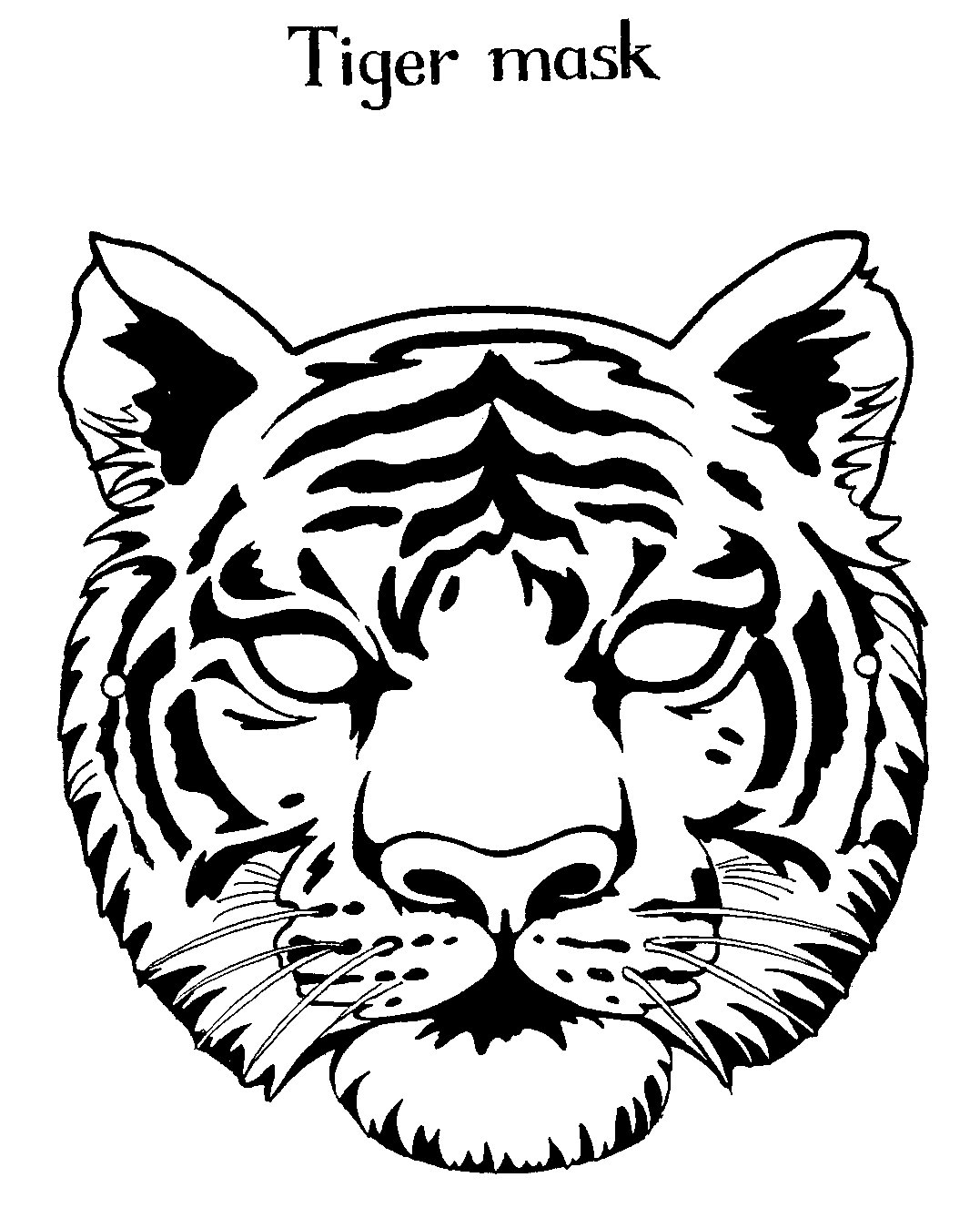 african tiger coloring pages - photo#30